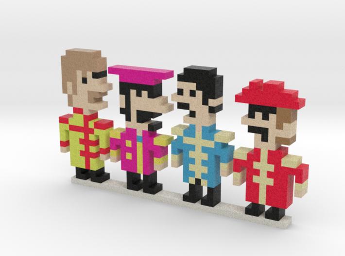 Beatles iotacons (Sgt. Pepper) 3d printed