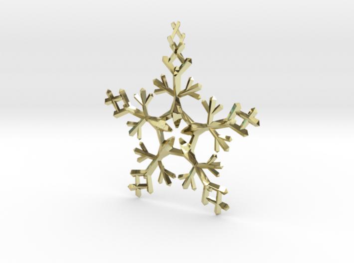 Snow Flake 5 Points - w Loopet - 7cm 3d printed