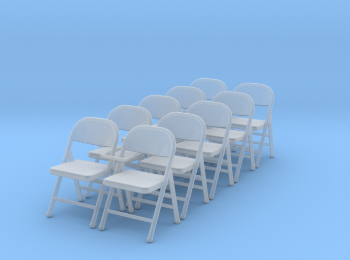 1:48 Folding Chairs (Set of 10) 3d printed