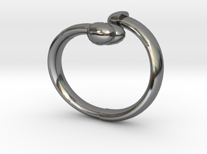 The D Ring - Sz.9 3d printed