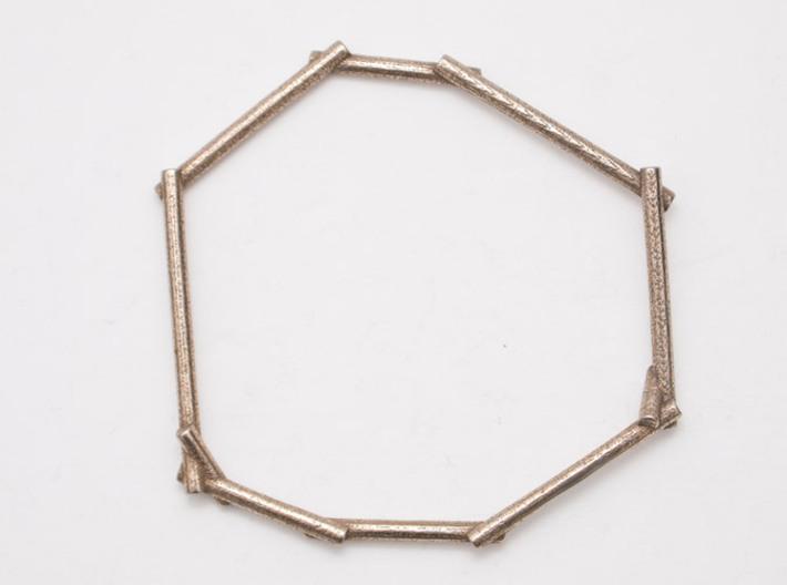 Stick Bracelet 3d printed Stick Steel Bracelet