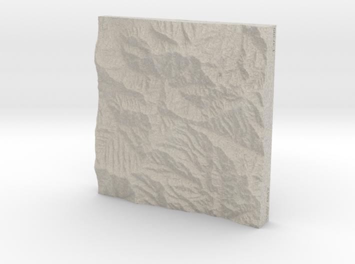 6'' Great Smoky Mountains, TN/NC, USA, Sandstone 3d printed