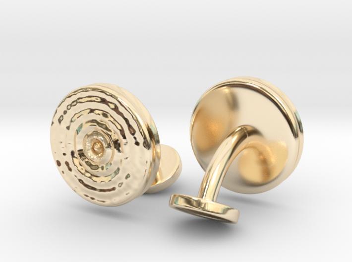 Ripple Cufflinks (pair) 3d printed