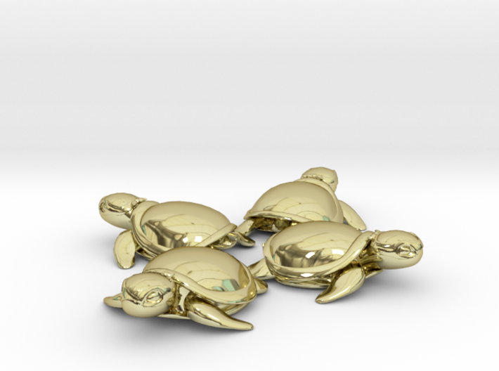 TMNT Little Turtles (4 pieces bundle) 3d printed