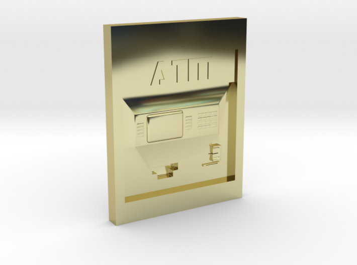 """Contemporary ATM for 4"""" Figures 3d printed"""