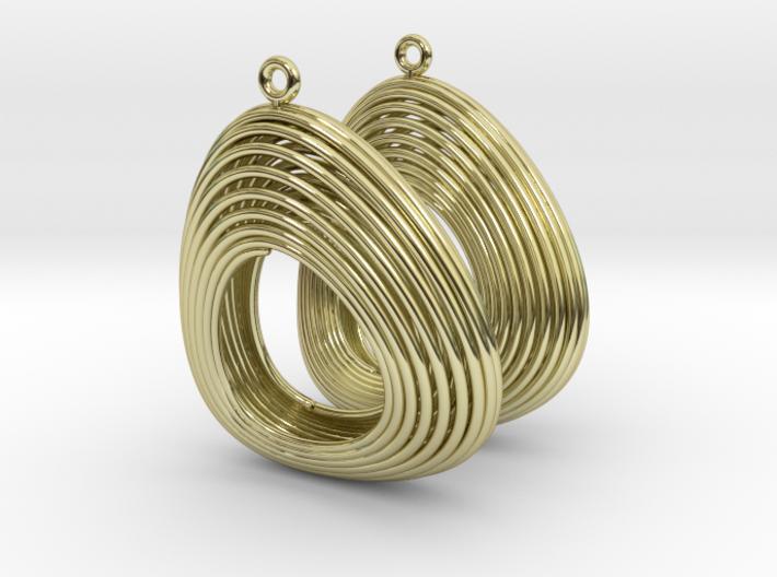 Lotka Volterra Earrings Pair 3d printed