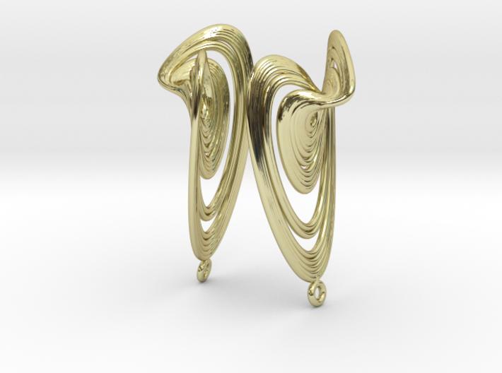 Sprott Linz R Earrings Pair 3d printed