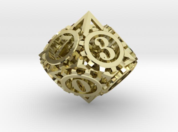 Steampunk Gear d10 3d printed
