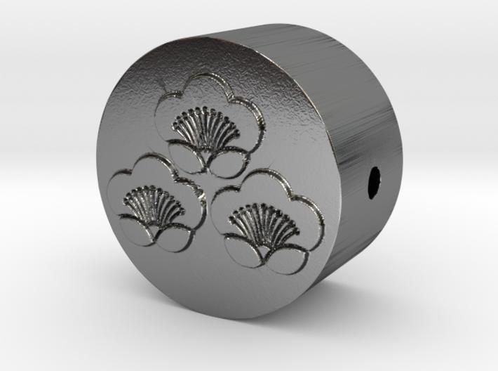 家紋の数珠ブレスレットパーツ(三つ盛り匂い梅) 3d printed
