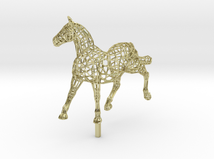 ELEGANCE - Gold Plated Horse 3d printed