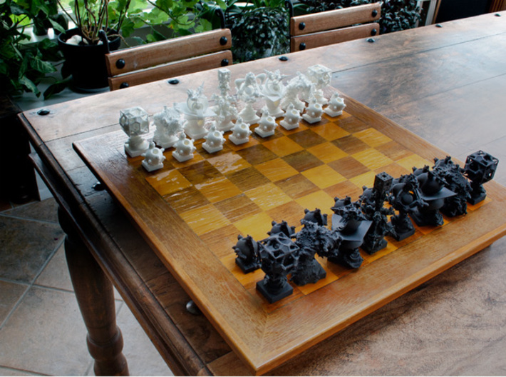 Surreal Chess Set - My Masterpieces - The Pawn 3d printed Complete Set