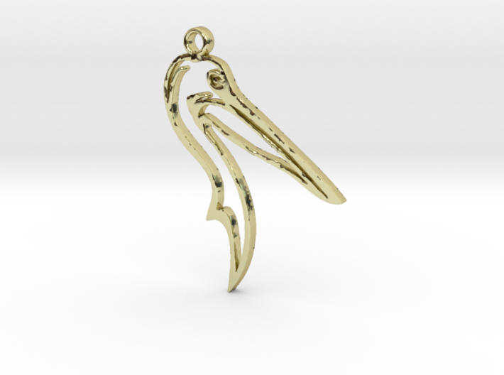 Pelican pendant 3d printed