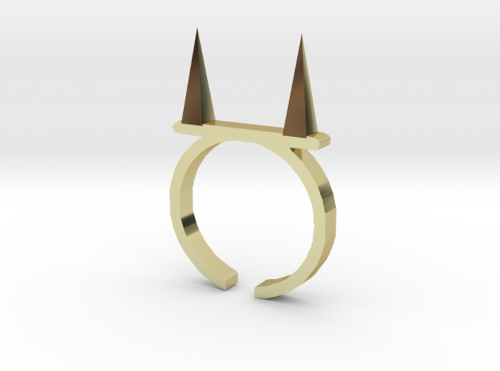 Pickle Fork Ring 3d printed