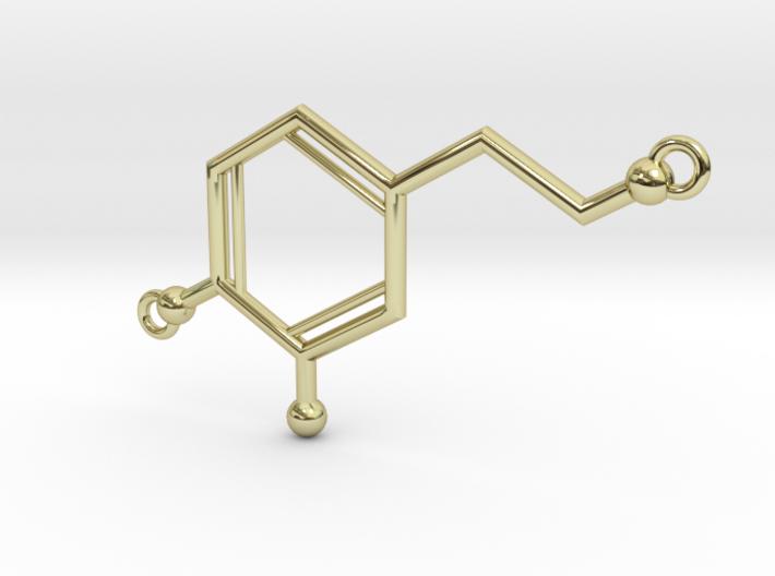 "Dopamine: ""The Love Symbol"", Necklace Pendant 3d printed"