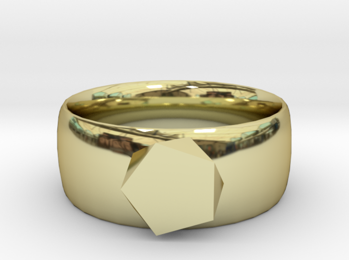 squashed crystal ring 3d printed