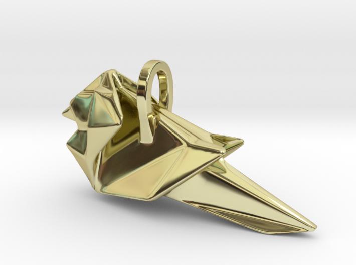 Origami Cardinal finch 3d printed