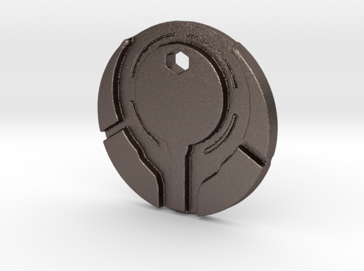 Halo 4 Style Reclaimer Logo Necklace Bungie 3d printed