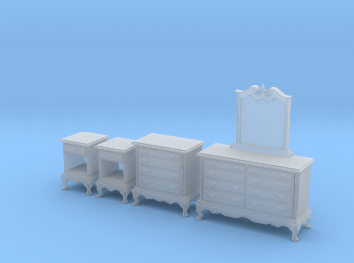 1:48 Queen Anne Bedroom Set 3d printed