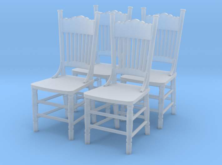 1:48 Kitchen Chair, Set of 4 3d printed