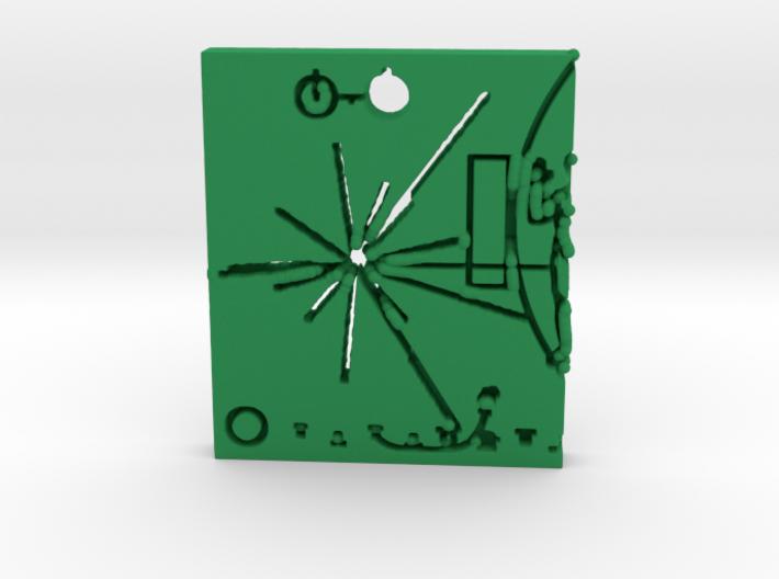 Pioneer Plaque Pendant 3d printed