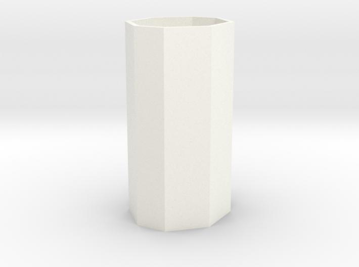 Large planter or waste basket 1:12 scale 3d printed