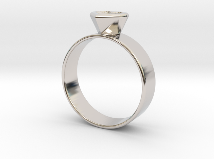 Ring with heart 3d printed