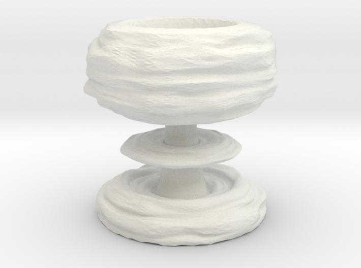 Mushroom cloud egg cup 3d printed
