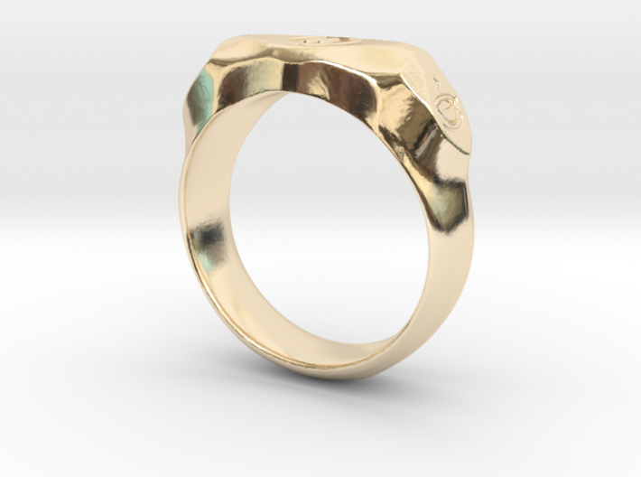 """UK m size """"Pause"""" ring, first edition. 3d printed"""