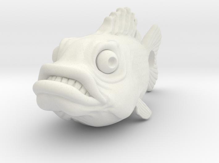 Fish Keychain 3d printed