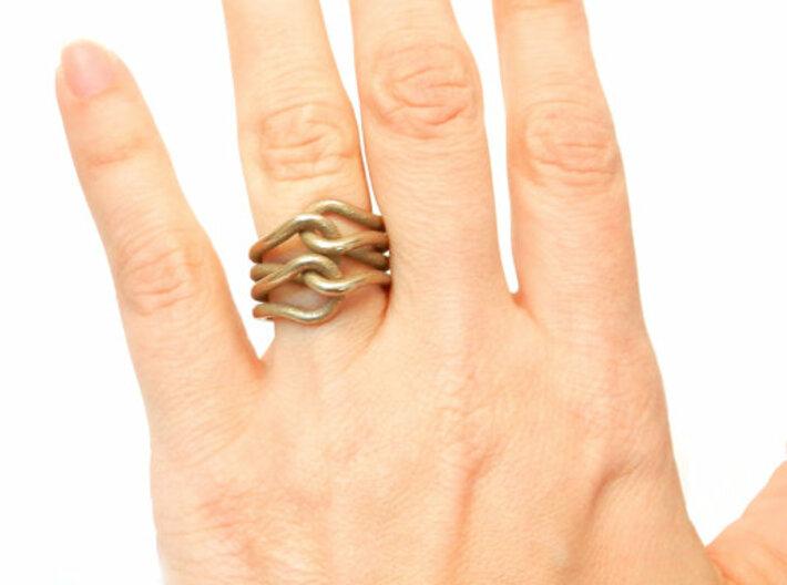 Knit Ring 3d printed