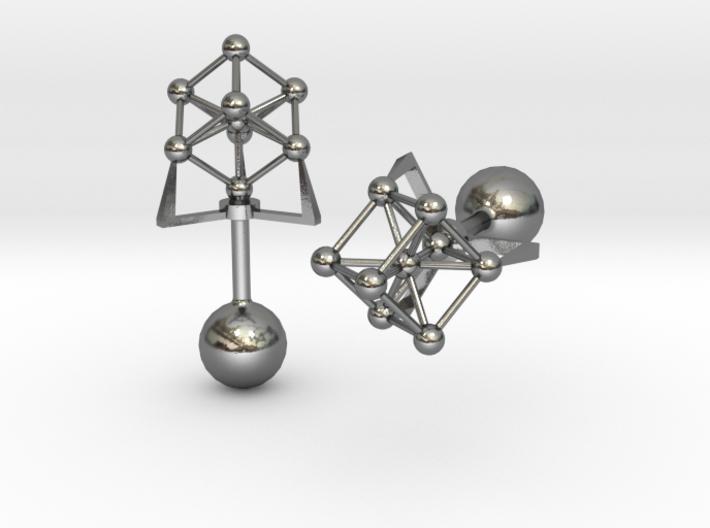 Atomium Cufflinks 3d printed