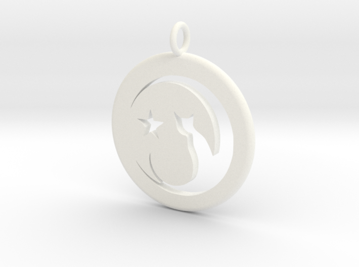 Cat Necklace 3d printed