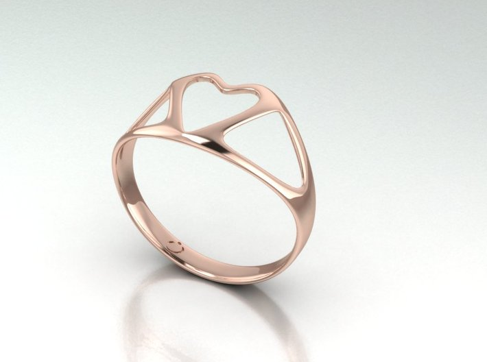 Open Heart Ring 3d printed