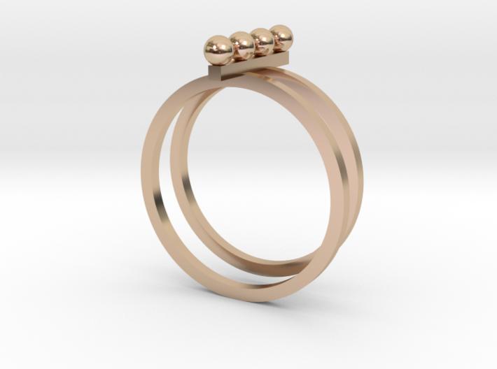 4 Pearl Ring 3d printed