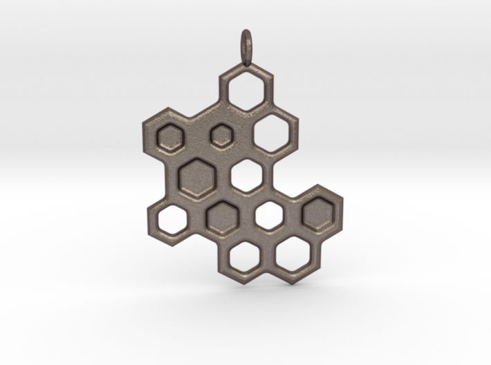 Honeycomb Necklace 3d printed