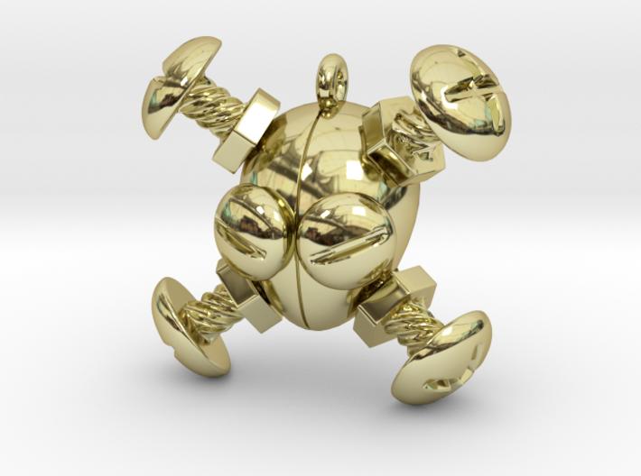 Bolts & Screws - Jolly Roger Trinket 3d printed