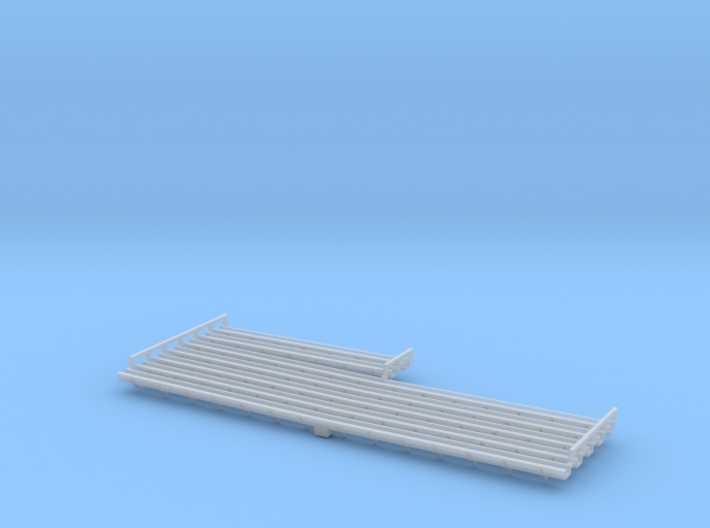 Warehouse Gutters in HO Scale 3d printed
