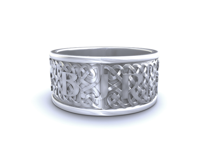 BJR celtic hound ring 22.5mmx10mmx1.45mm 3d printed 3D render