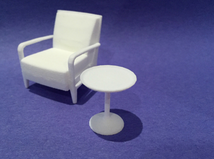 20in Dia Side Table 1:24 scale 3d printed