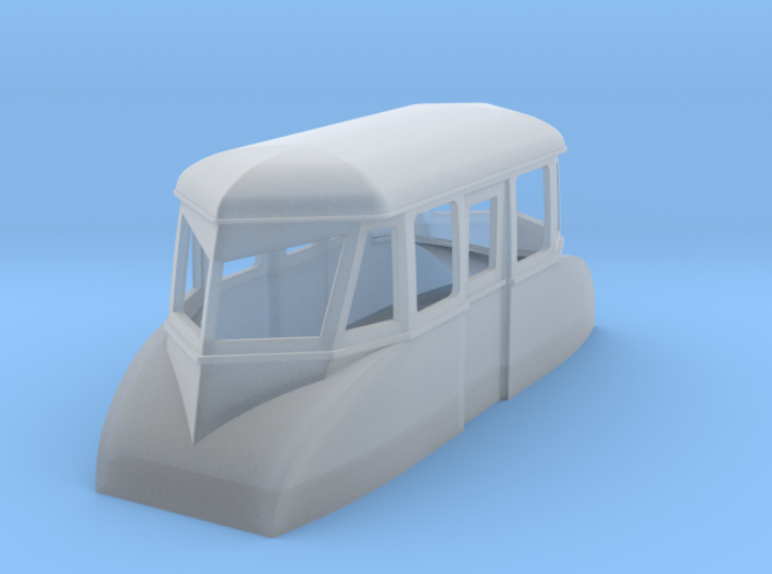 009 streamlined inspection railcar 3d printed