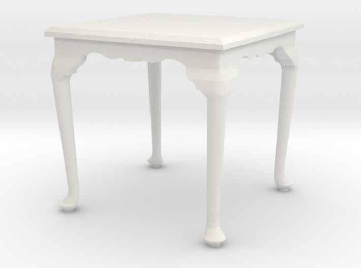1:24 Queen Anne Square Dining Table 3d printed