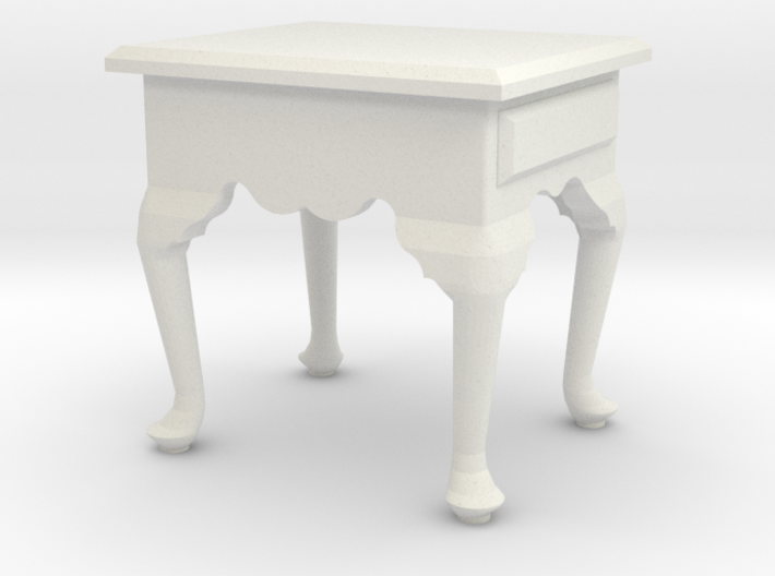 1:24 Queen Anne Tall End Table 3d printed