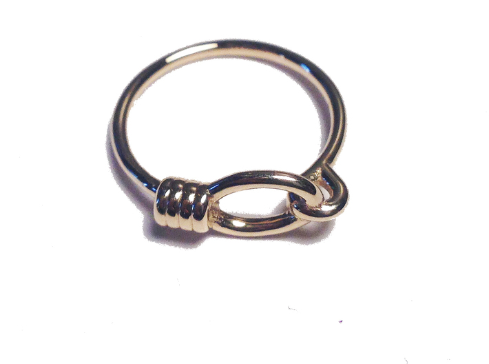 Noose Ring - Sz. 5 3d printed