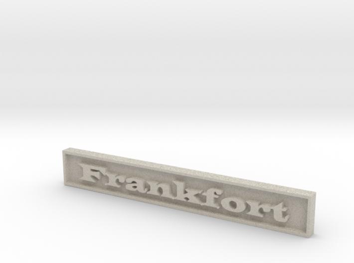 "1:24 Frankfort Sign 3"" 3d printed"