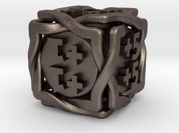 'Twined' Dice D6 MTG +1/+1 Counters die 3d printed