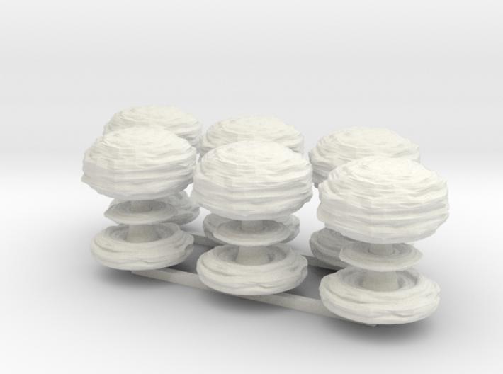 Mushroom Cloud x6 3d printed