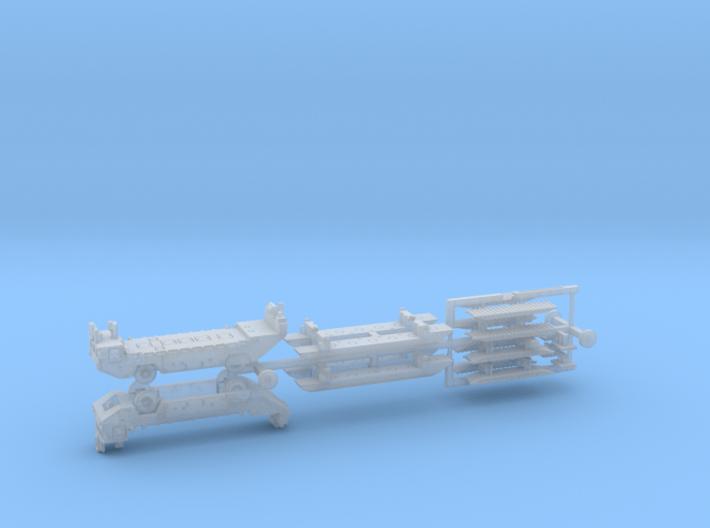 M2 Alligator Amphibious Bridging Vehicle 1/285 6mm 3d printed
