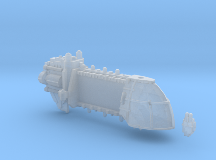 Trojan System Ship Hull 3d printed