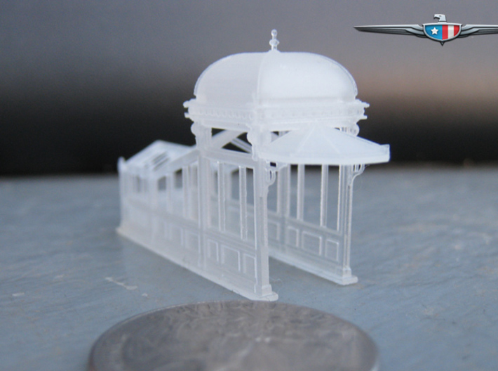 N Scale (1:160) Subway Kiosks (Set of 2) 3d printed Untainted subway entrance.