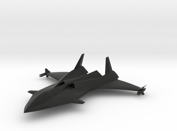 MPV Stealth Jet 01 3d printed